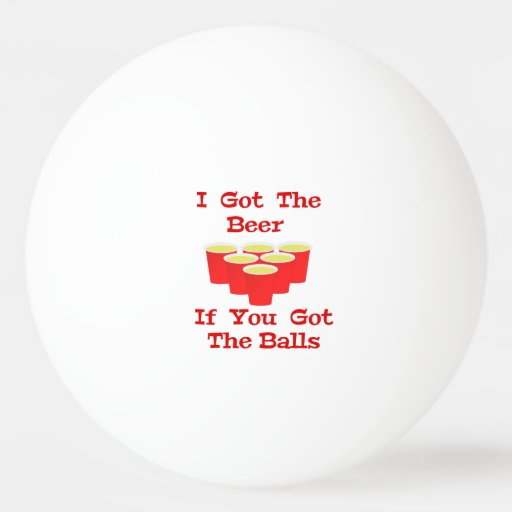 Beer n balls ping pong ball for beer pong zazzle - How are ping pong balls made ...