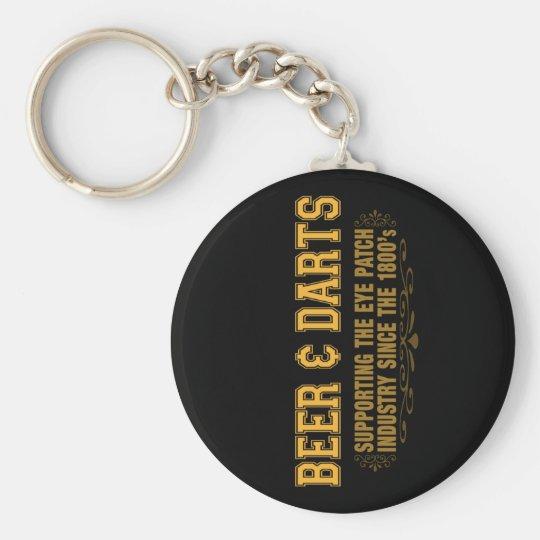 Beer N Darts Keychain