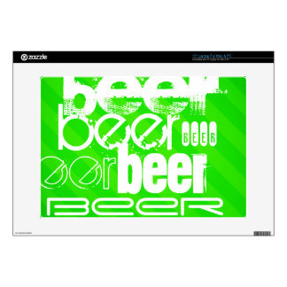 """Beer; Neon Green Stripes Decals For 15"""" Laptops"""
