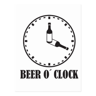 beer o clock postcard