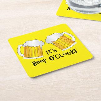 Beer O'Clock Funny Birthday Party BBQ Coaster