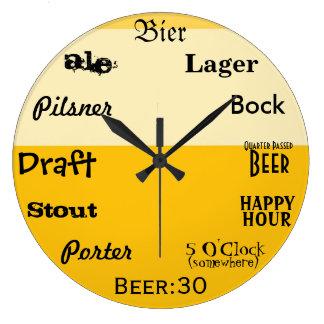 Beer O'Clock Large Clock
