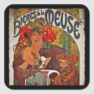 Beer of the Meuse Square Sticker
