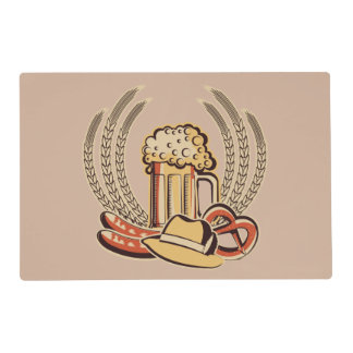 Beer Oktoberfest Graphic Placemat