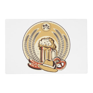 Beer Oktoberfest Label Vintage Graphic Placemat