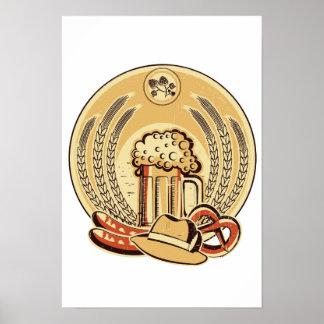 Beer Oktoberfest Label Vintage Graphic Poster