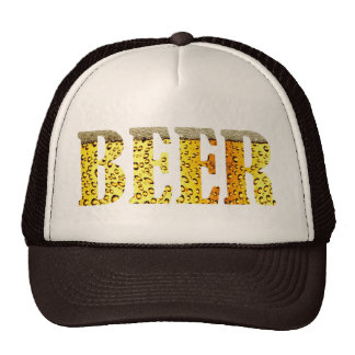 Beer on Brain Cap Hats