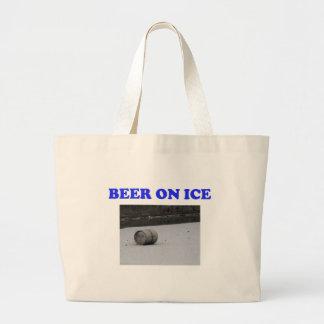 Beer on ice jumbo tote bag