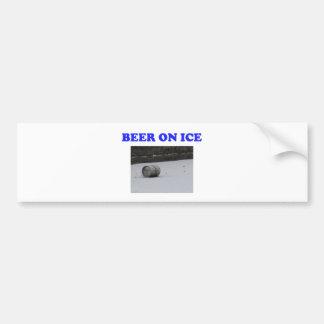 Beer on ice bumper sticker
