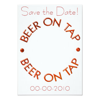 Beer on Tap Invitations