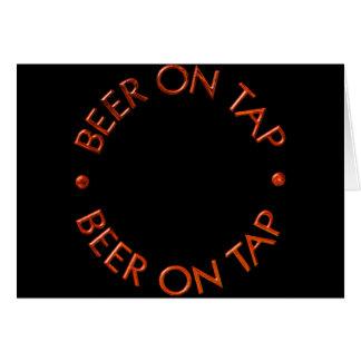 Beer On Tap Logo Card