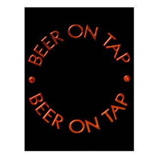 Beer On Tap Logo Postcard
