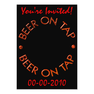 Beer On Tap Party Invitations