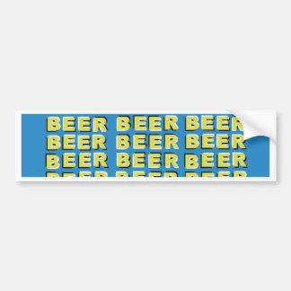 BEER OPTICAL ILLUSION BUMPER STICKER