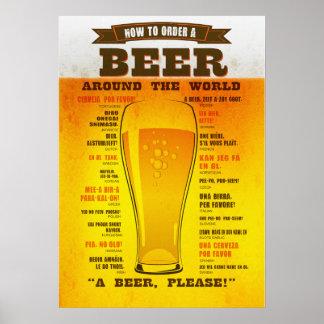Beer Order Guide Poster