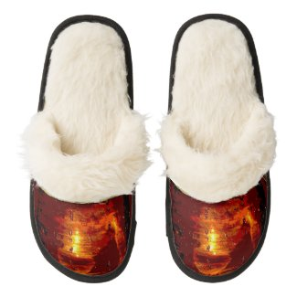 Beer Pair of Fuzzy Slippers