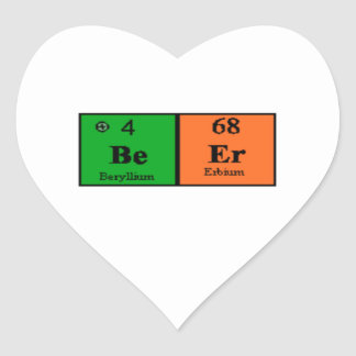 Beer Periodic Table Heart Sticker