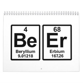 Beer periodic table calendar