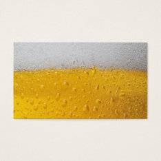 Beer Pint Business Card at Zazzle