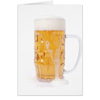 Beer pint card