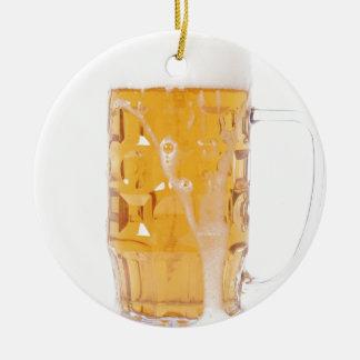 Beer pint ceramic ornament