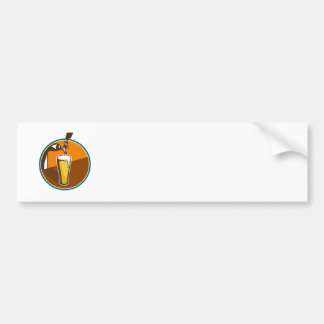 Beer Pint Glass Tap Retro Bumper Sticker