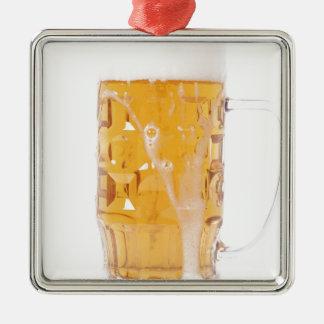 Beer pint metal ornament