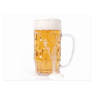Beer pint postcard