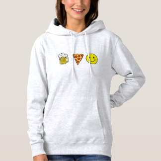 Beer Pizza Happiness Hoodie