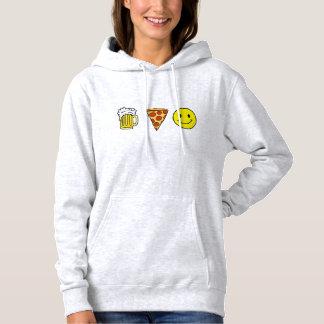 Beer Pizza Happiness Hoodie