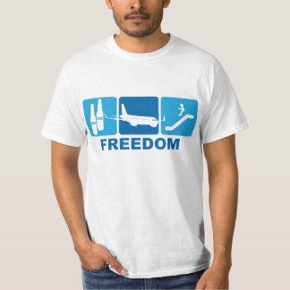 Beer + Plane + Slide = Freedom Tee Shirt