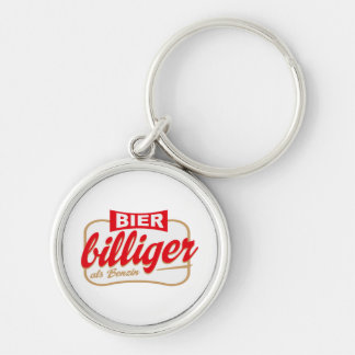 beer png Silver-Colored round keychain
