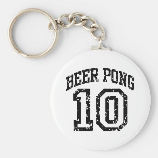 Beer Pong 10 Keychains