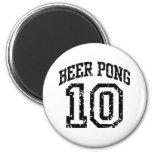 Beer Pong 10 Refrigerator Magnets