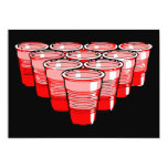 beer pong 5x7 paper invitation card