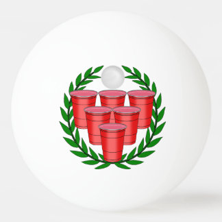Beer Pong Badge Ping Pong Ball