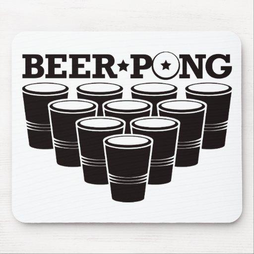 Beer Pong Basic - Black Mouse Pad