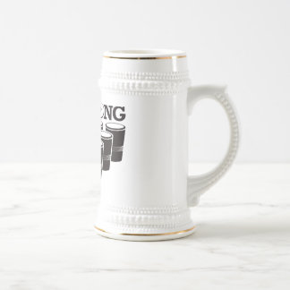 Beer Pong Basic - Red Beer Stein