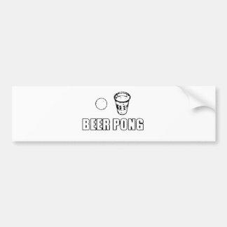 Beer Pong Bumper Sticker