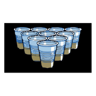 beer pong Double-Sided standard business cards (Pack of 100)