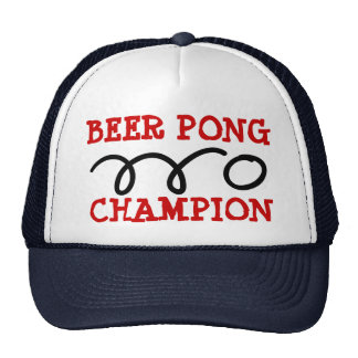 Beer pong chamion hat