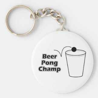 Beer Pong Champ Basic Round Button Keychain