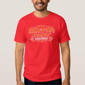 Beer Pong Champ Heavy Weight Division Funny TShirt