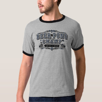 Beer Pong Champ Heavy Weight Division - Gray T-Shirt