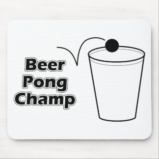 Beer Pong Champ Mouse Pad