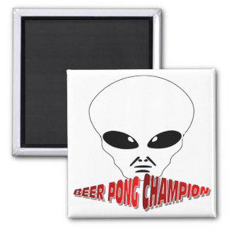 Beer Pong Champion 2 Inch Square Magnet