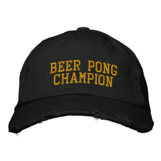 Beer Pong Champion Embroidered Hat