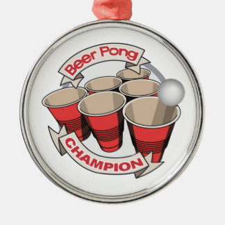 Beer Pong Champion Gift Metal Ornament