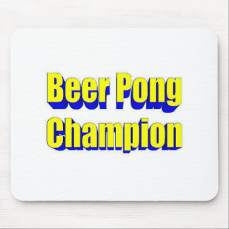Beer Pong Champion Mouse Pad