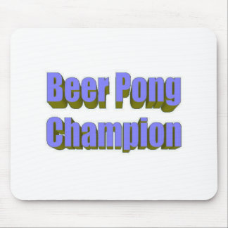 Beer Pong Champion Mouse Pads